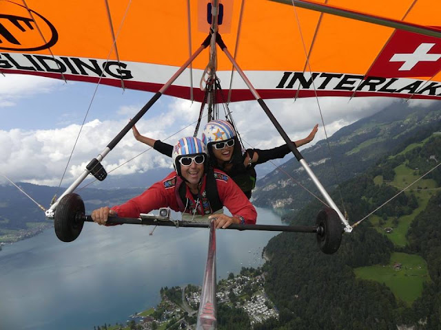 Hanggliding Interlaken, Switzerland, Miss Happy Feet, Vivian Lee, Interrail