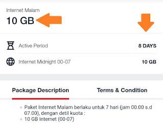paket internet malam telkomsel 10gb seminggu
