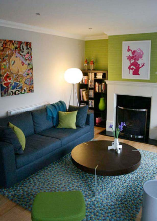 Green Living Room Designs: Lime Green And Teal Room Ideas