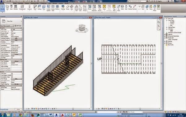 Revit 2015 - Adding a Railing Mid-Way On To a Stair Flight – Cadline