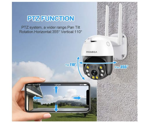 INQMEGAPRO 5MP PTZ WiFi Outdoor Security Camera