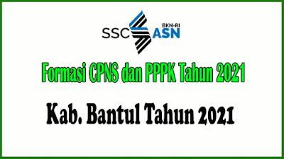 Alokasi Formasi CPNS dan PPPK KAB. BANTUL Tahun 2021