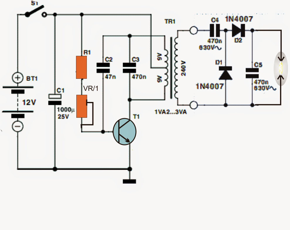 Simple High voltage Generator Circuit ~ Electronic Circuit