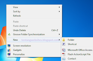 Cara mudah membuat shortcut shutdown di windows 7
