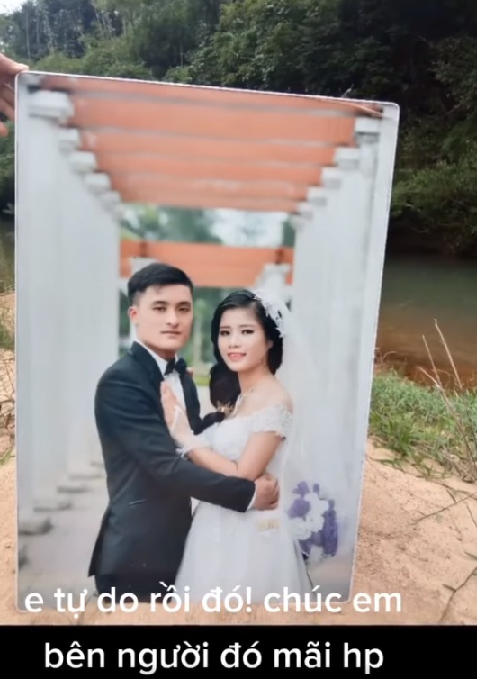 Sau này ae chụp ảnh cưới chụp loại rẻ thôi nhé, sau này lỡ có đáp đi thì đỡ phí :))