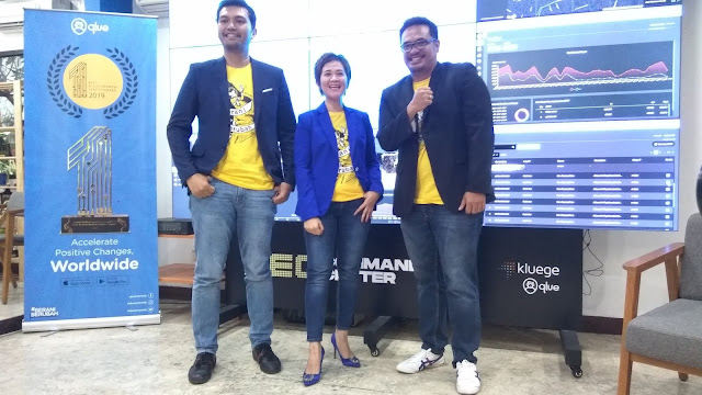 Rama Aditya (Founder&CEO Qlue), Maya Arvini (Chief Commercial Officer), Andre Hutagalung (Co founder& Chief Technology Officer) (dok.windhu)