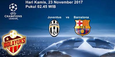 Prediksi Bolayuks: Juventus vs Barcelona, 23 November 2017
