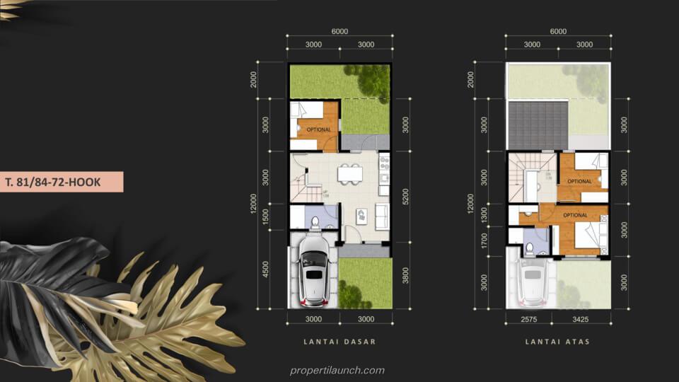 Denah Rumah Savia Park @ Nusa Loka BSD Tipe 81/84