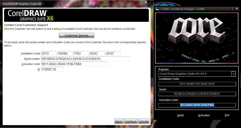 corel draw graphics suite x6 activation code