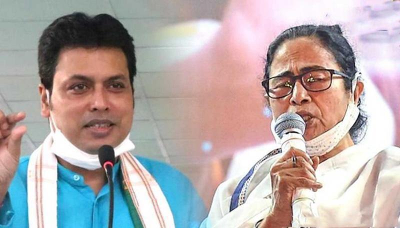 In Tripura, BJP has termed TMC an outsider.