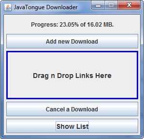 Free Simple And Light Weight Download Manager Java