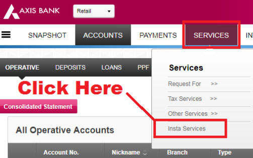 how to change email address in axis bank account online