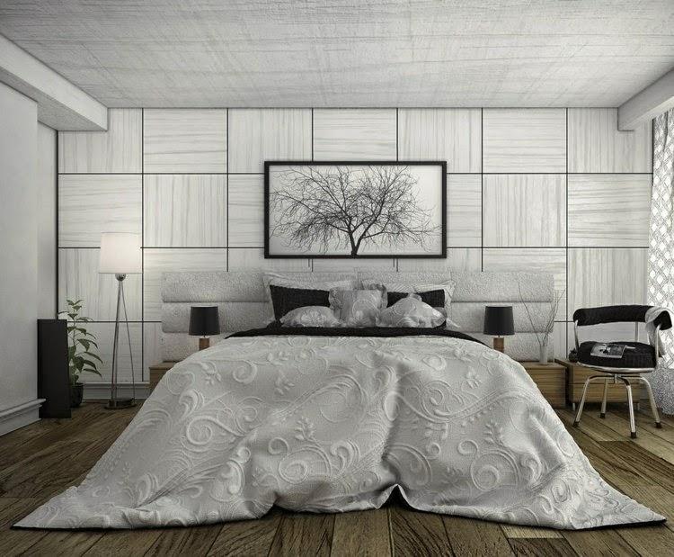 Elegante moderno dormitorio