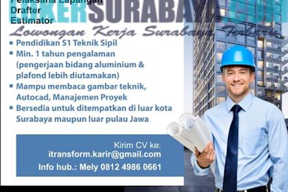 Tantangan Kerja di CV. Cahaya Contruction Surabaya Terbaru Mei 2019