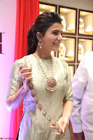 Samantha Ruth Prabhu in Cream Suit at Launch of NAC Jewelles Antique Exhibition 2.8.17 ~  Exclusive Celebrities Galleries 044.jpg