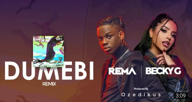 """Mavin starboy Rema comes through with another banger which is the remix to his 2019 song """"Dumebi"""" featuring American singer Becky G produced by Ozedikus."""