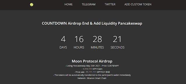 احصل على عملة Moon Protocol (MPF) مجانا