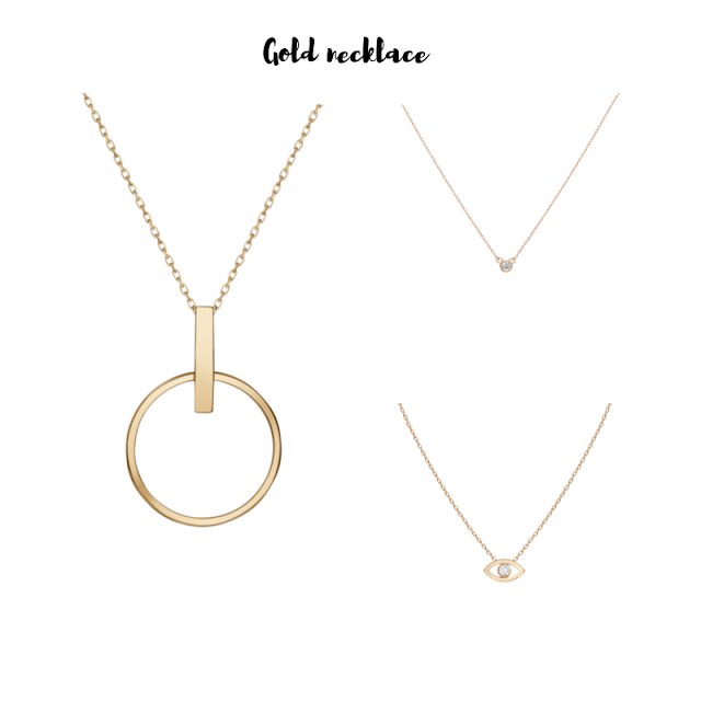 Aurate new york gold necklace