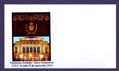 Sobre para el sello del Teatro Campoamor