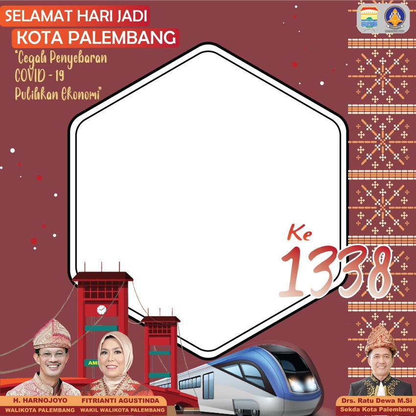 Template Desain Bingkai Foto Twibbon HUT Kota Palembang 2021 Gratis - Twibbonize