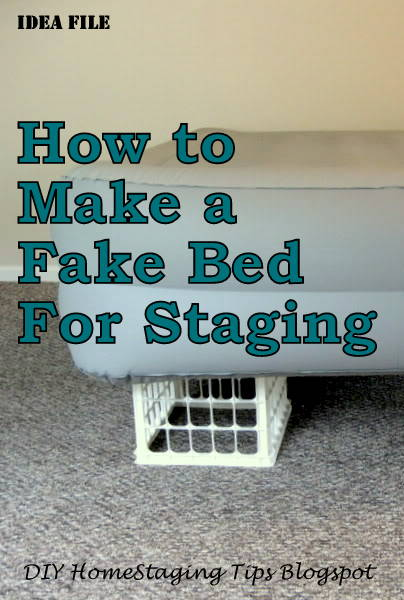 Diy Home Staging Tips Bedroom Staging Diy Headboard And Make Believe Bed