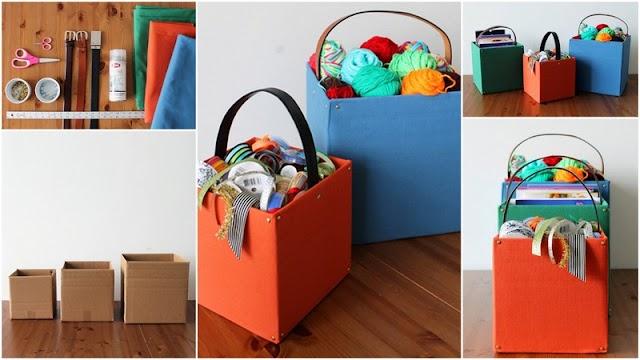 DIY Κατασκευές Οργάνωσης - Αποθήκευσης από απλά χαρτόκουτα