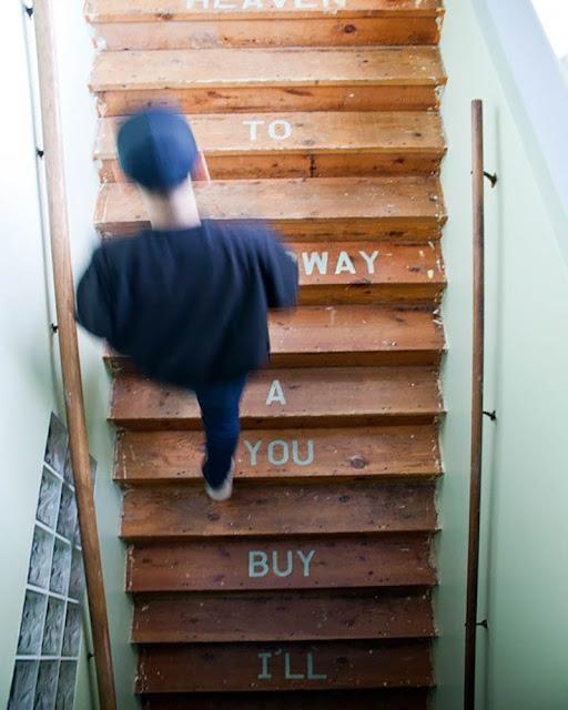 idée originale pour décorer un escalier