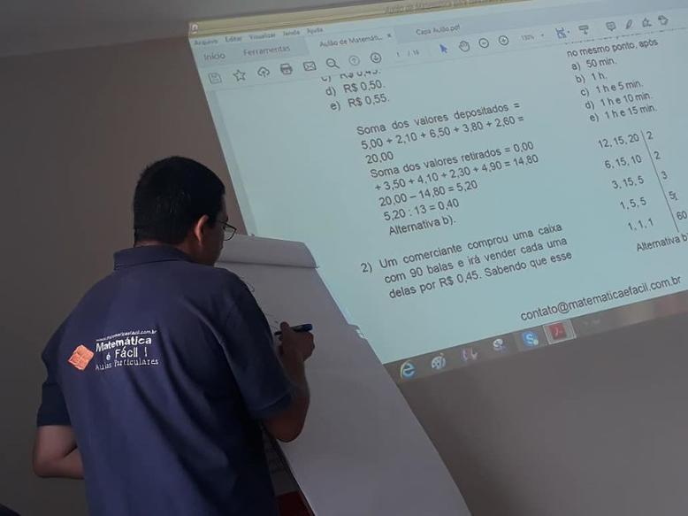 2º Aulão de Matemática para Concursos Públicos em SP – 2020