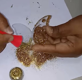 DIY CRAFT   - صناعة  فراشات لماعة