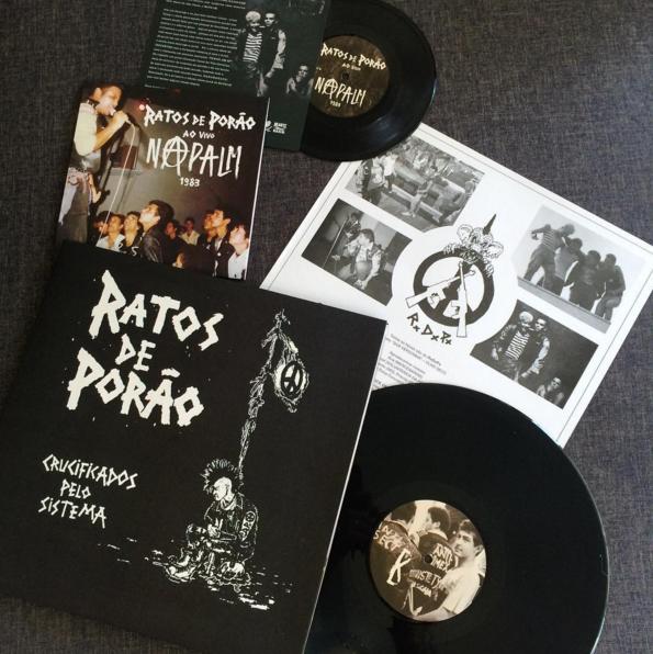Crucificados pelo Sistema, do Ratos de Porão: disco de 1984 foi relançado nacionalmente em 2016 pela HBB em parceria com as gravadoras Läjä Records e Bruaki