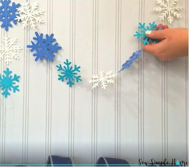 snowflake garland diy
