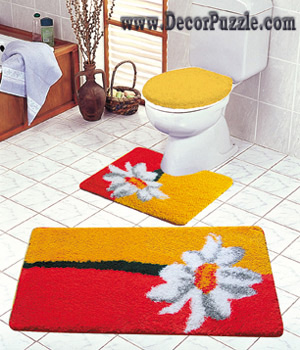 modern bathroom rug sets, bath mats 2018 , red and yellow bathroom rugs and carpets