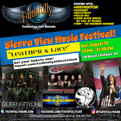 Aug 12: FAITHFULLY featuring Jeff Salado on bill with QUEENSRYCHE at Sierra View Music Fest