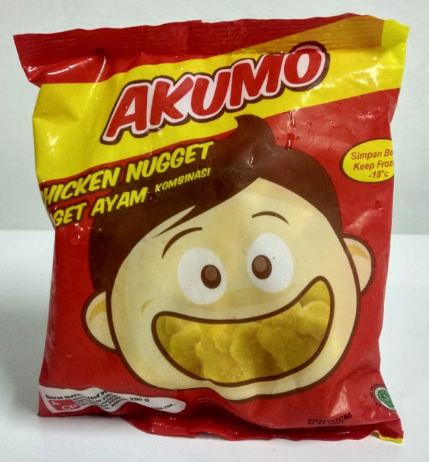 Nuget Ayam kombinasi, produk Akumo