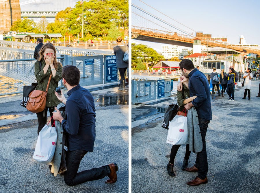 Proposing in DUMBO Brooklyn Bridge Park - www.cassiecastellaw.com