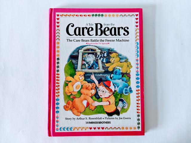 pink vintage children's book on white background
