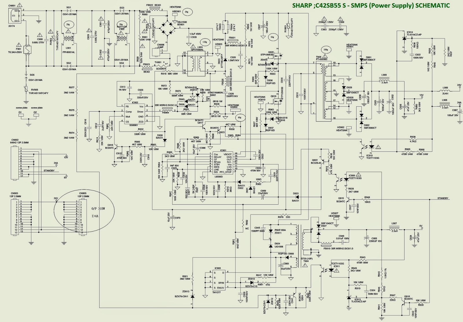 Electro Help  Smps  Power Supply  Schematic