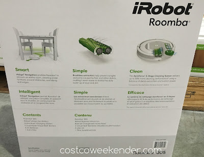 Costco 1877550 - iRobot Roomba 805 Vacuum Cleaning Robot - Convenient, simple, intelligent and more importantly, it gets the job done
