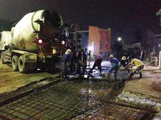 harga jasa pengecoran jalan beton readymix