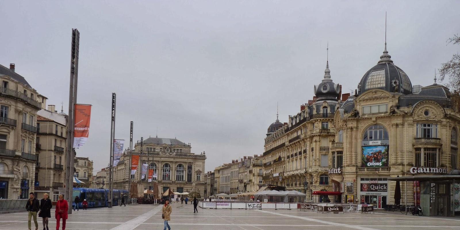 Plaza de la Comédie y Ópera Comédie
