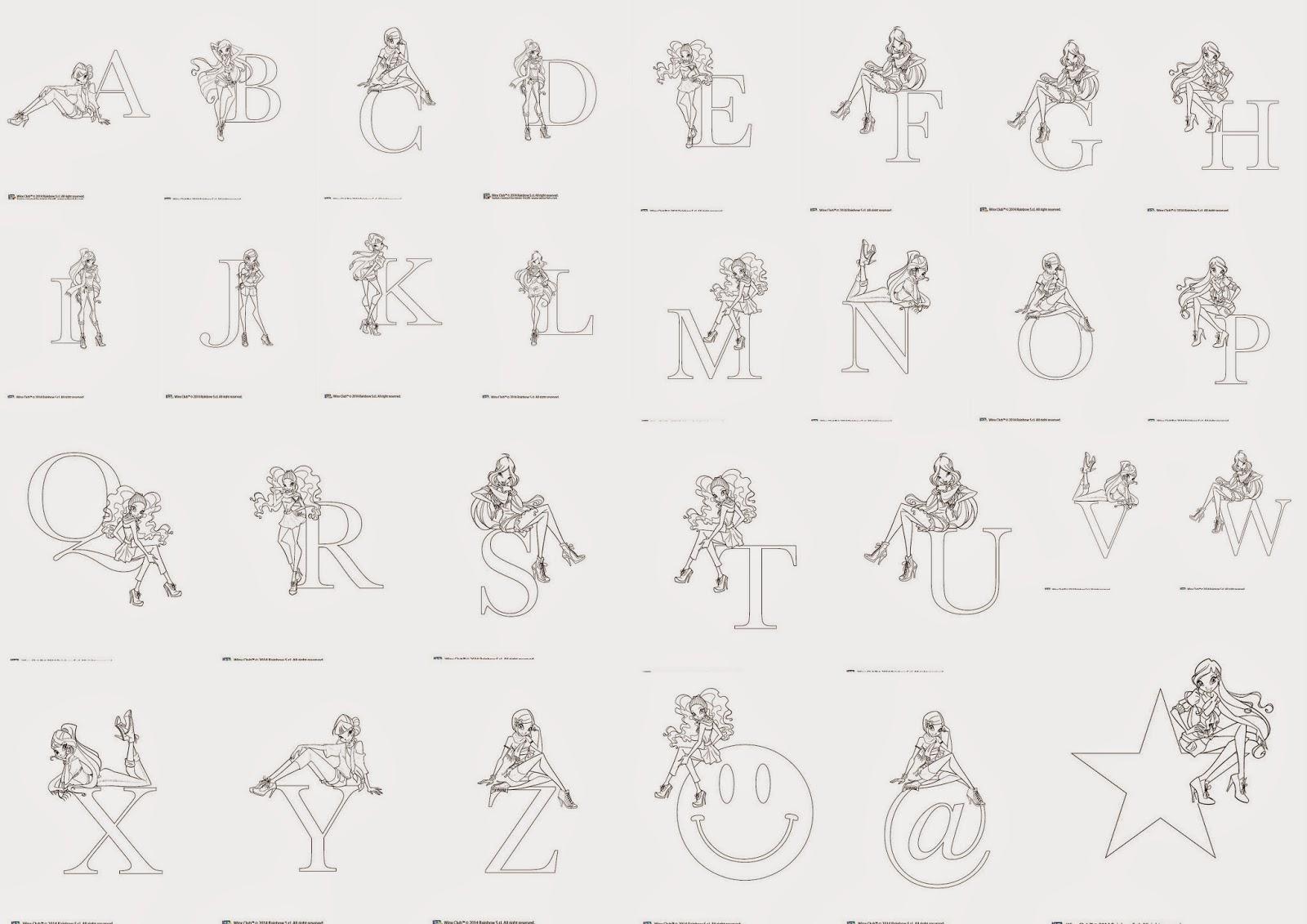 Alfabeto para Colorear de las Winx. | Oh my Alfabetos!