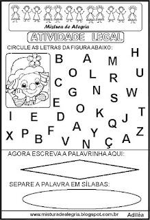 Atividade legal de alfabetização P