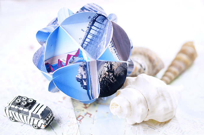 DIY Dekokugeln aus Fotos basteln