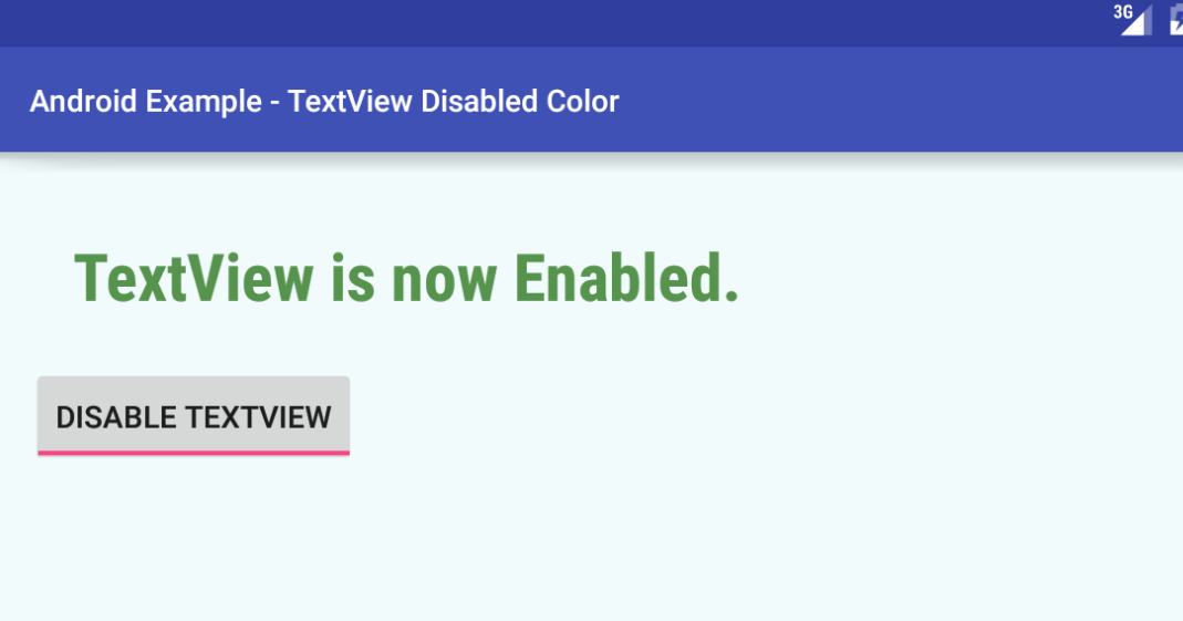 android - How to set TextView disabled color