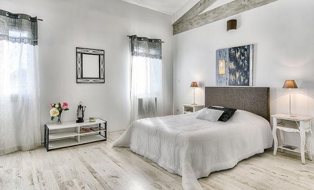 Shooting Mas provençal, chambre à coucher.