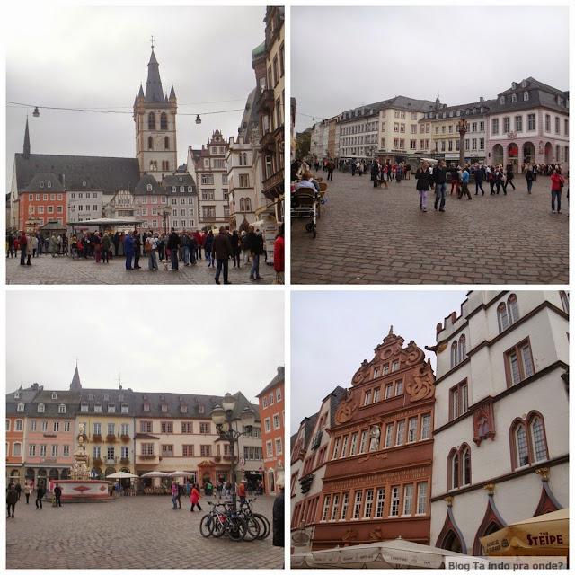 Roteiro pelo Rio Mosel (Alemanha) com vinícolas - Praça Hauptmarkt em Trier