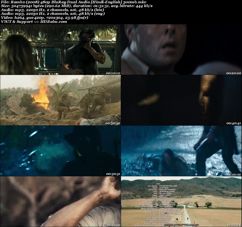 Rambo 2008 Hindi Dual Audio 480p Blu-Ray 300MB Screenshot