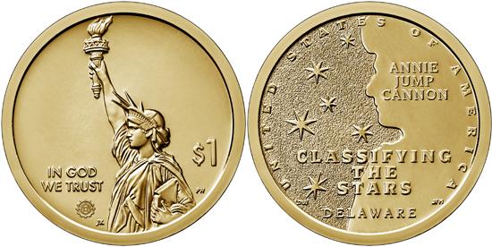 USA 1 dollar 2019 - American Innovation - Delaware