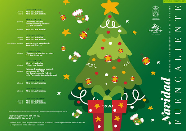 Fuencaliente inicia este viernes el programa de actos dedicado a la Navidad con el encendido del alumbrado