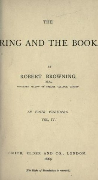 The Ring and the Book Poem by Robert Browning in pdf